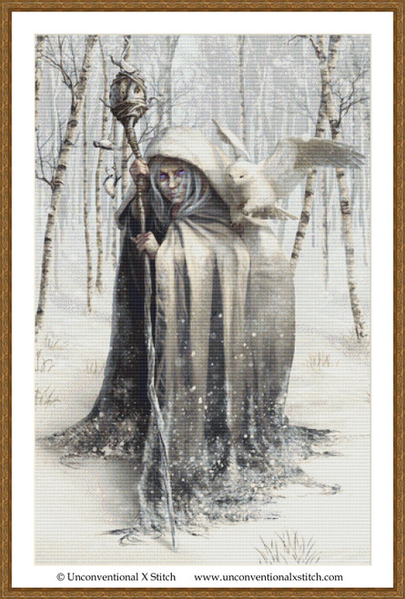 Witch of the White Wood extract cross stitch pattern