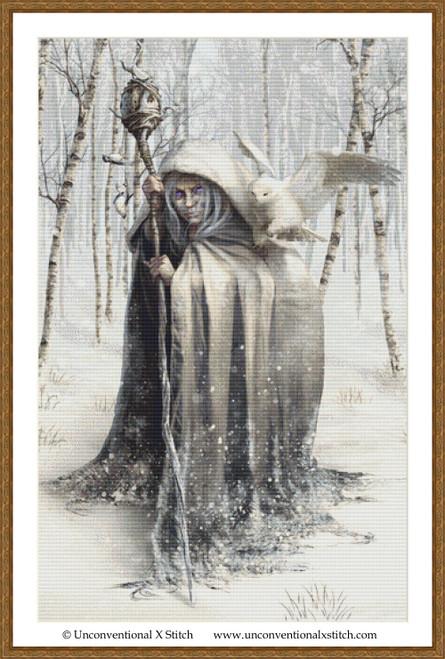 Witch of the White Wood cross stitch pattern