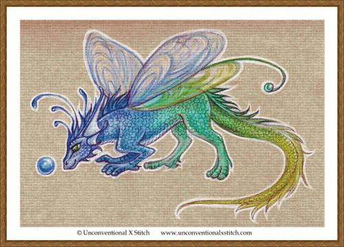 Fairy Dragon cross stitch pattern