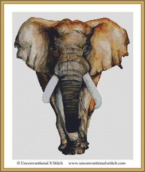 Elephant Journey cross stitch pattern