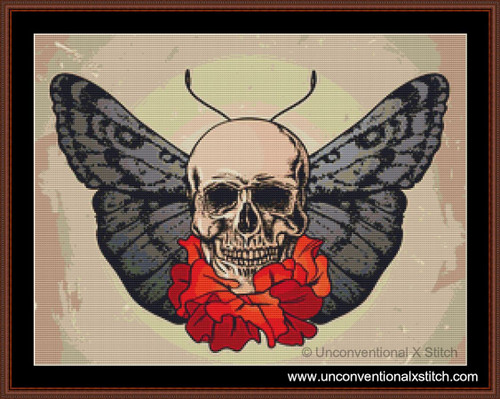 Beautiful Death cross stitch pattern