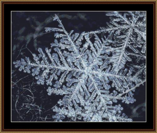Snowflakes Fingerprints of Stars cross stitch pattern