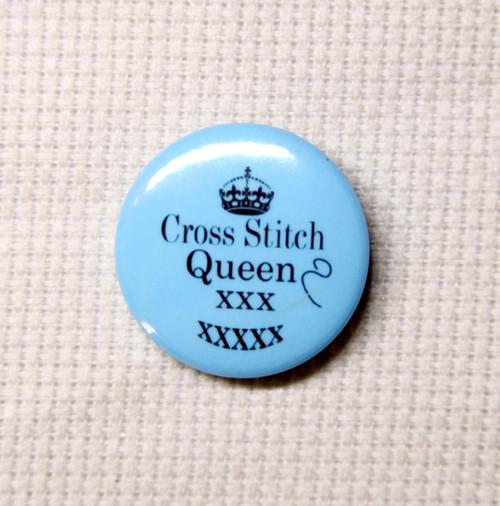 Cross Stitch Queen needle minder blue