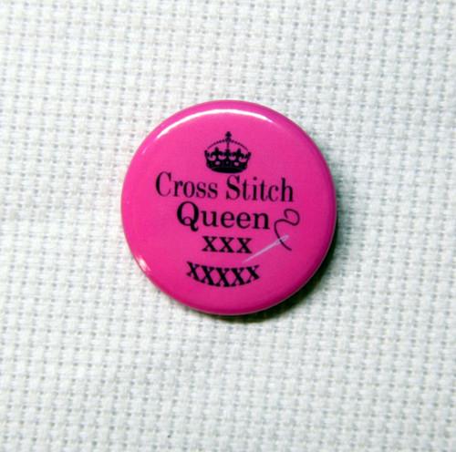Cross Stitch Queen needle minder pink