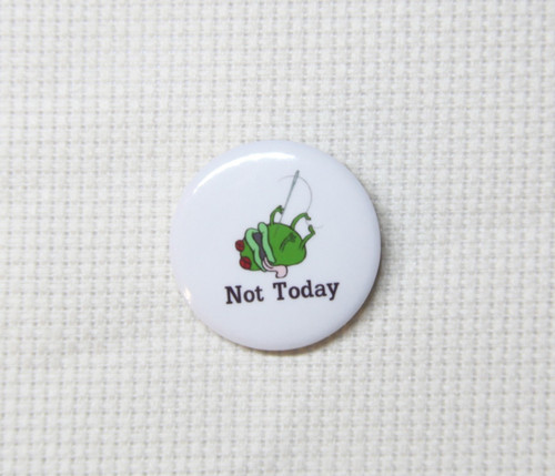 Not Today Frog needle minder