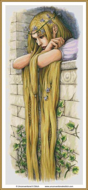 Rapunzel cross stitch pattern