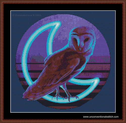 Night Owl cross stitch pattern