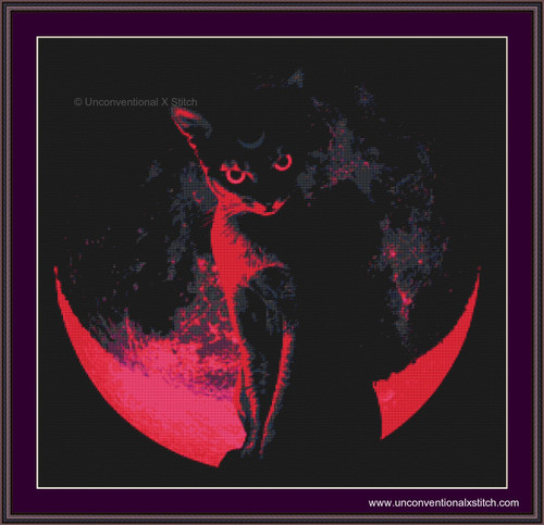 Blood Moon cross stitch pattern EF
