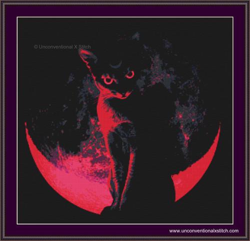 Blood Moon cross stitch pattern (E. Fowler)