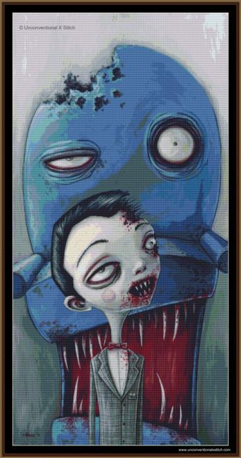 Zombie Pee Wee cross stitch pattern