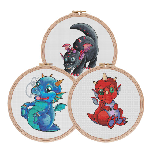 Baby Dragon Collection cross stitch pattern