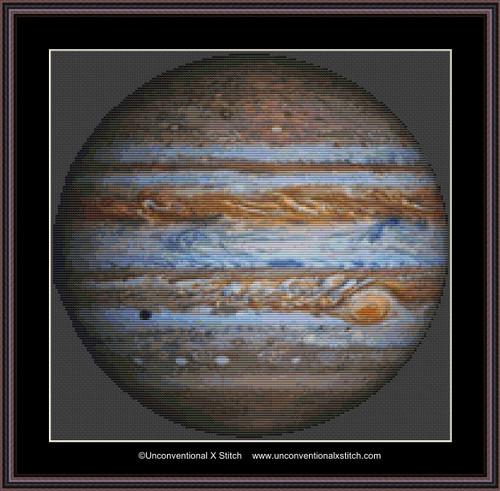 Jupiter cross stitch pattern