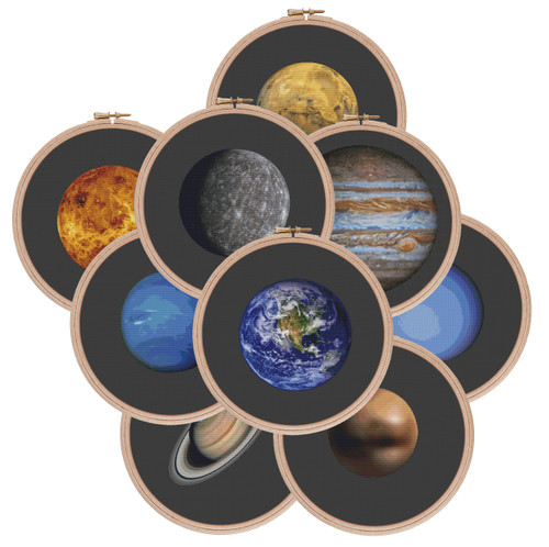 Solar System Planet Collection cross stitch pattern