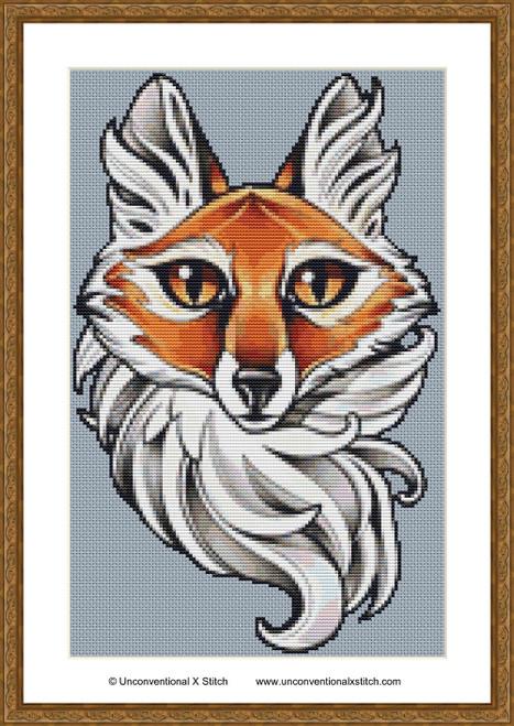 Foxy cross stitch pattern