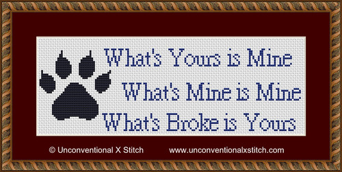 Cat Meme cross stitch pattern