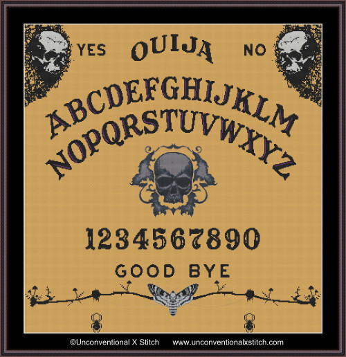 Ouija Board 2 cross stitch pattern
