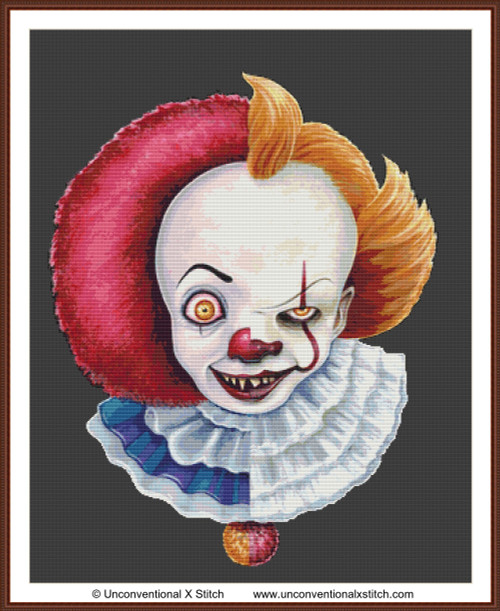 Pennywise cross stitch pattern