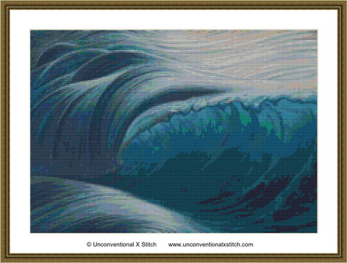 Breaking the Waves cross stitch pattern