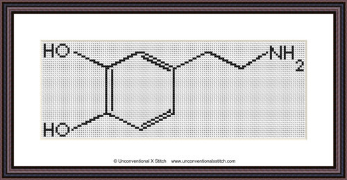 Dopamine Molecule cross stitch pattern