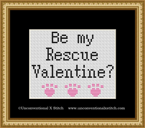 Be My Rescue Valentine cross stitch pattern