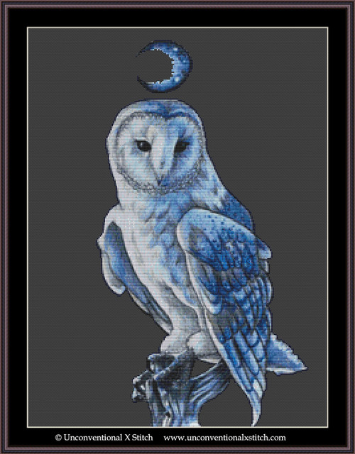 Barn Owl Familiar cross stitch pattern