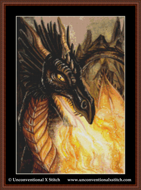 Fire of the Dragon cross stitch pattern (Miniature Edition)