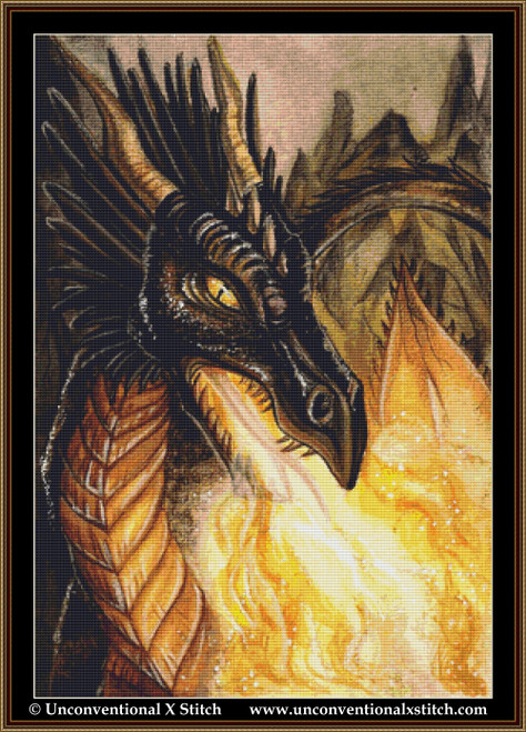Fire of the Dragon cross stitch pattern