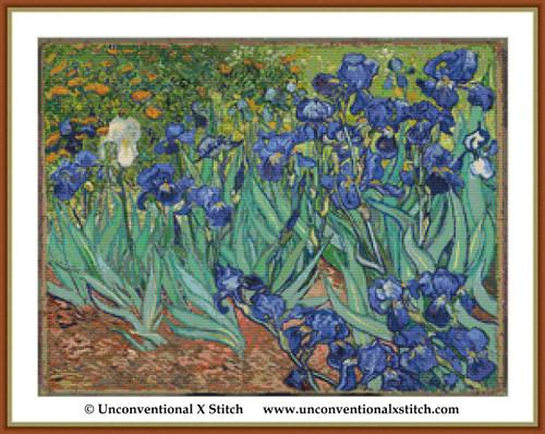 Irises cross stitch pattern