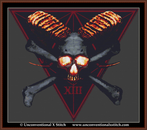 The Death Instinct cross stitch pattern (Background Removed Edition)
