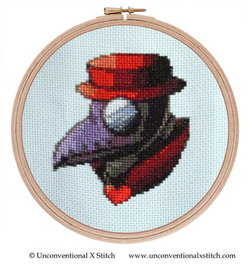 Social Distancing cross stitch pattern