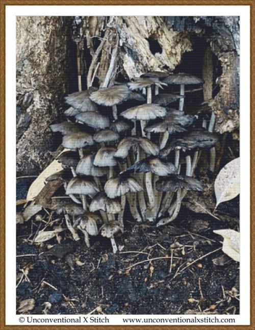 Fungi Forest cross stitch pattern