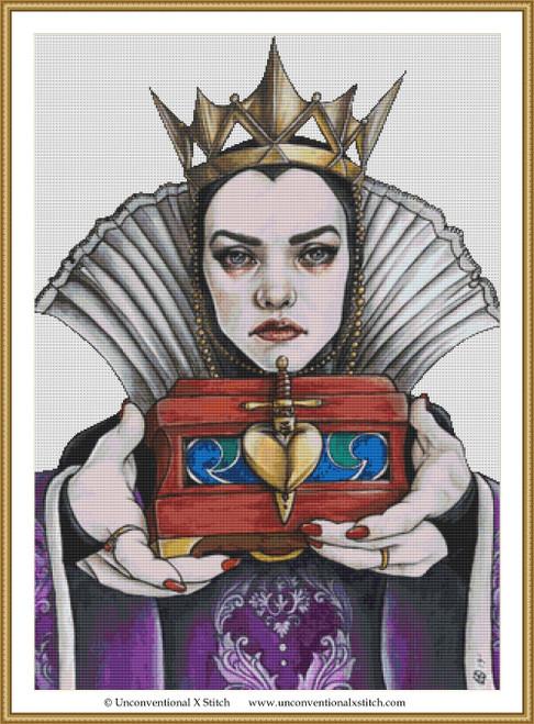 Evil Queen cross stitch pattern