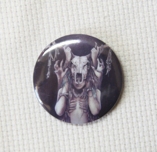 Horned Goddess 32mm badge style