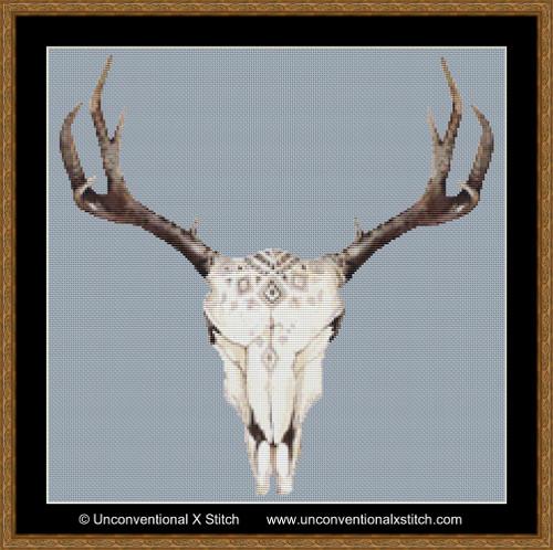 Boho Horns cross stitch pattern