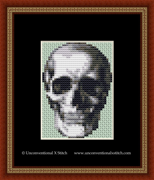 Halloween Skull cross stitch pattern (Miniature Edition)