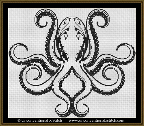 Colour In Octopus cross stitch pattern