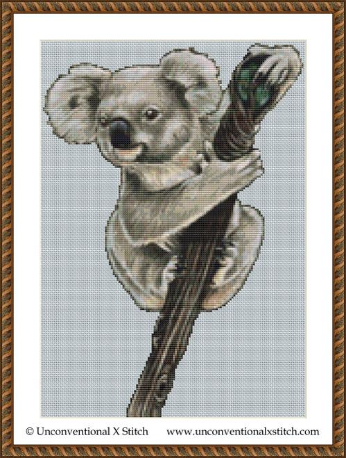Magical Koala cross stitch pattern (Miniature Edition)