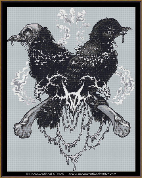 Birds cross stitch pattern