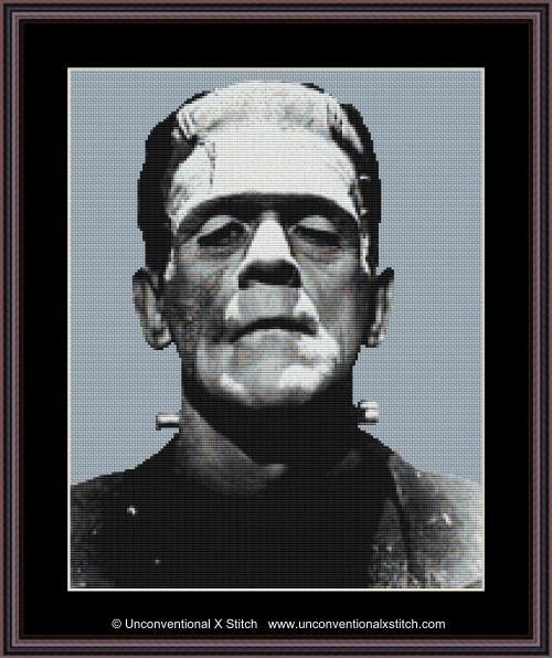 Frankenstein cross stitch pattern