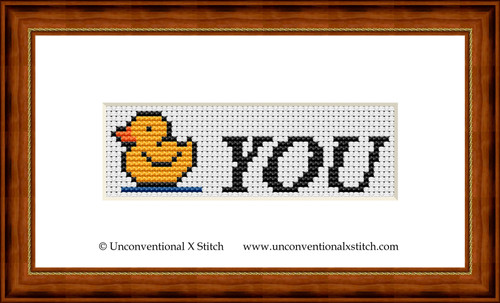 Duck You cross stitch pattern