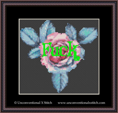 Fuck Glow cross stitch pattern