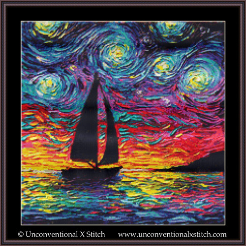 Come Sail Away cross stitch pattern