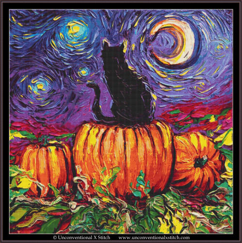 Starry Hallow's Eve cross stitch pattern (XL Edition)