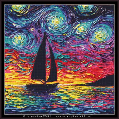 Come Sail Away cross stitch pattern (XL Edition)