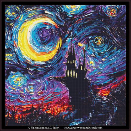 The Haunting of Van Gogh cross stitch pattern (XL Edition)