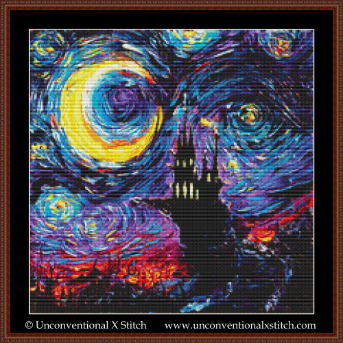 The Haunting of Van Gogh cross stitch pattern