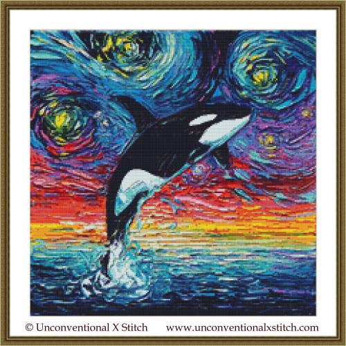 Van Gogh Never Saw Alaska cross stitch pattern