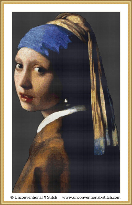 Girl with a Pearl Earring 1902 cross stitch pattern