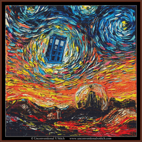 Van Gogh Never Saw Gallifrey cross stitch pattern (XL Edition)