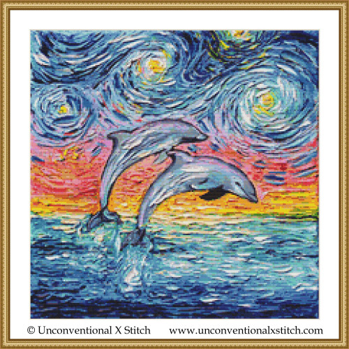 Van Gogh Never Saw Paradise cross stitch pattern